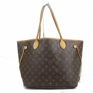 Louis Vuitton Neverfull Mm Brown Monogram Canvas